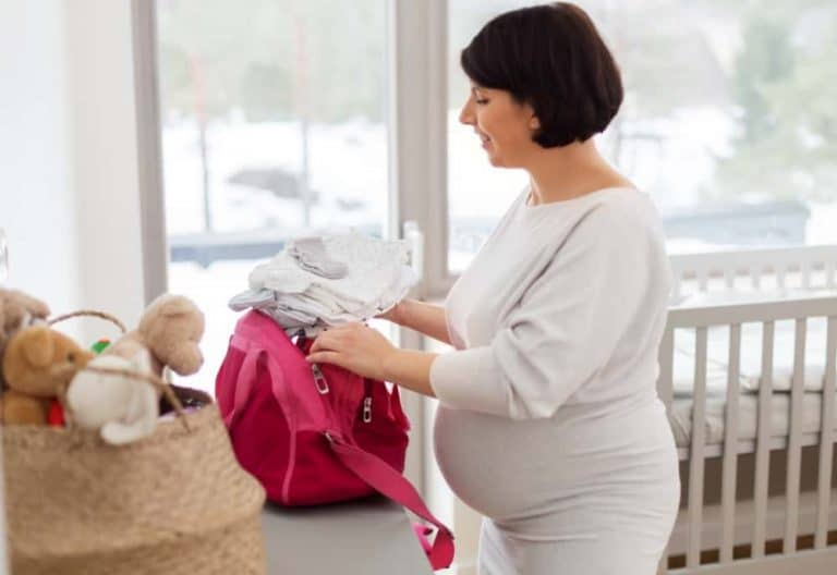 Minimalist Hospital Bag Checklist For Mom And Baby With A Free Checklist