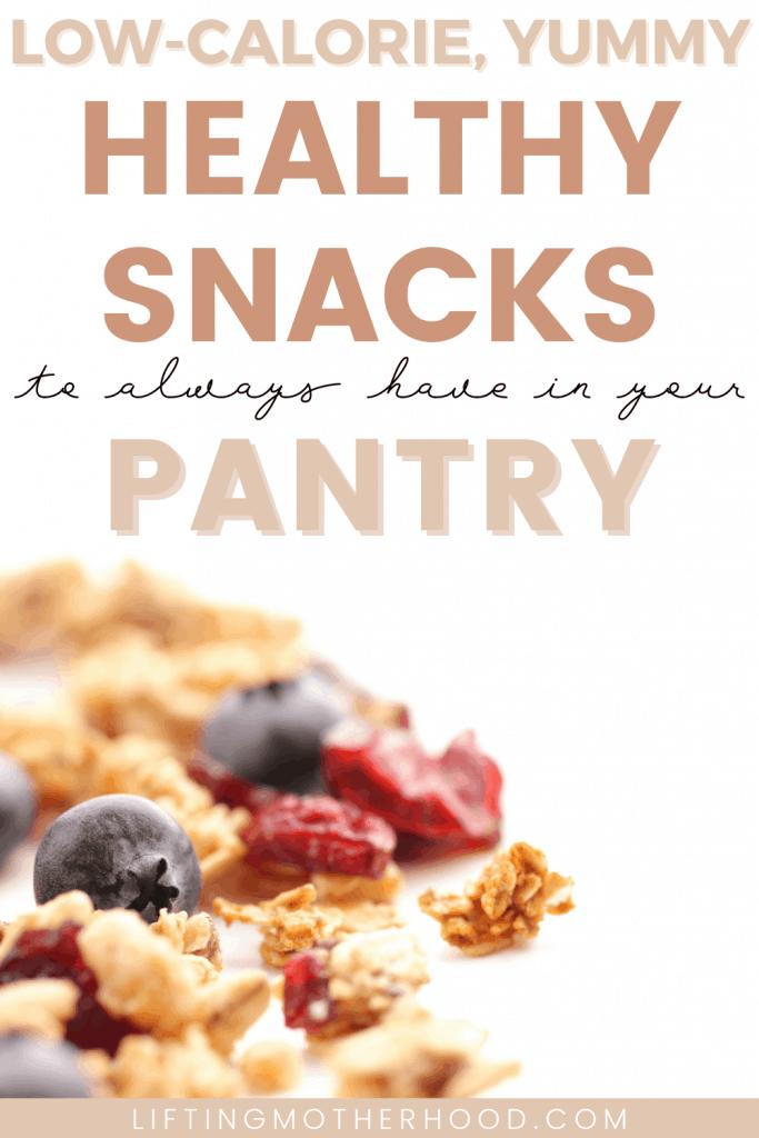 pinterest pin low calorie snacks