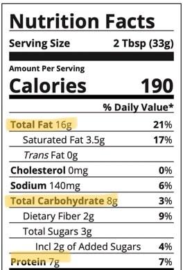 macros peanut butter Jif