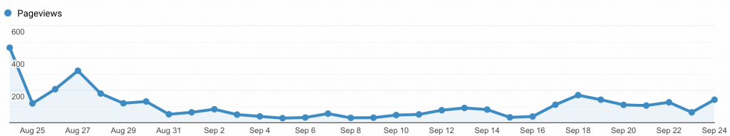 first 8 months of blogging first month