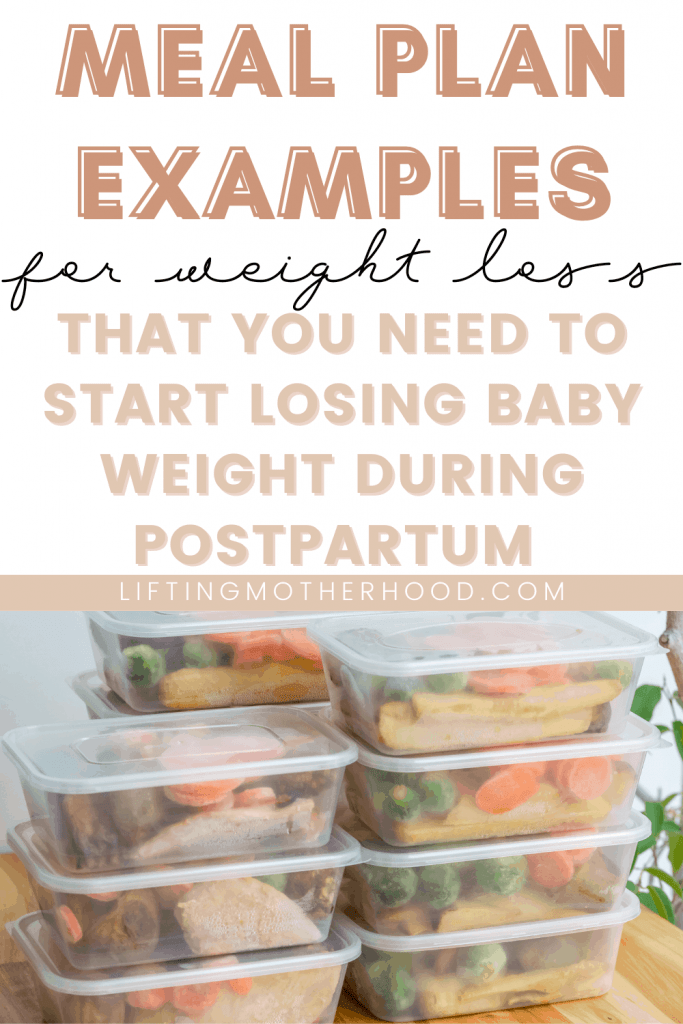 pinterest postpartum meal plan example for weight loss