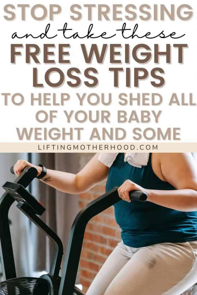 pinterest pin postpartum weight loss
