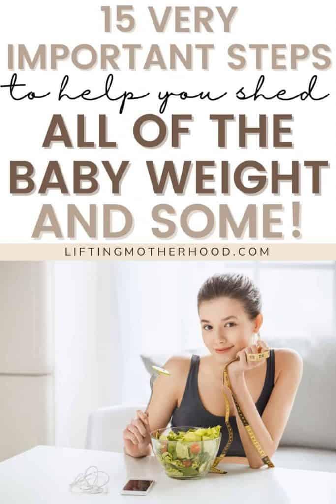 pinterest pin postpartum weight loss tips