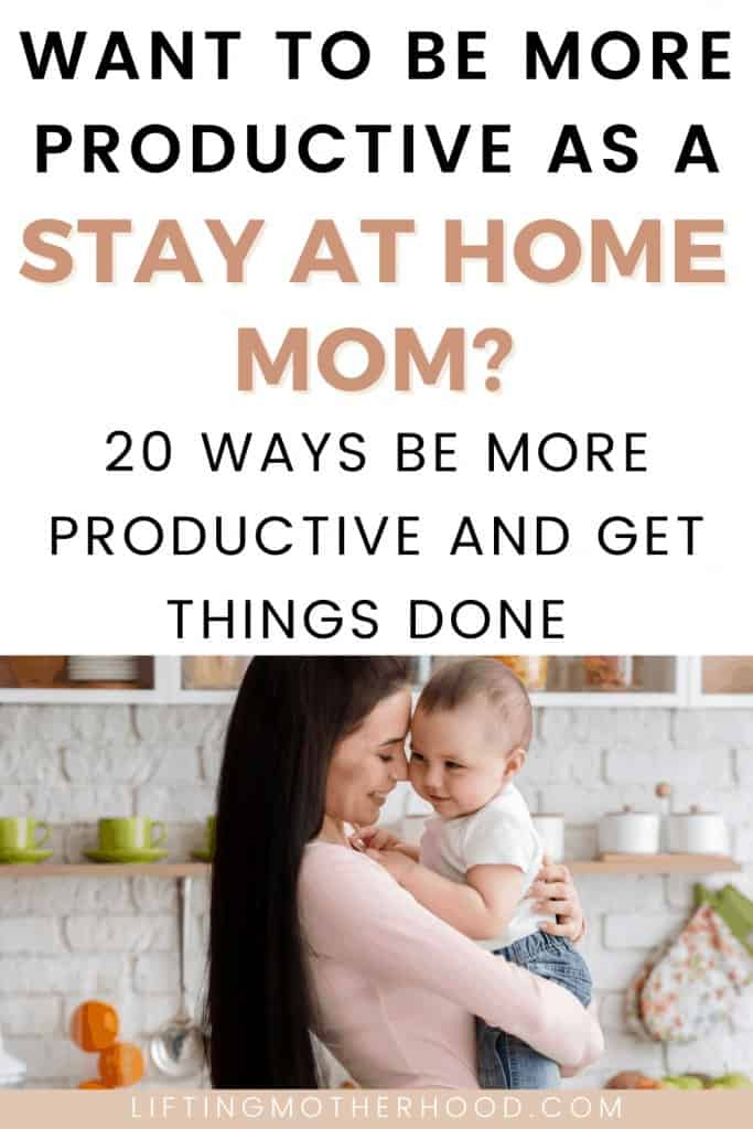 pinterest pin be more productive stay at home mom