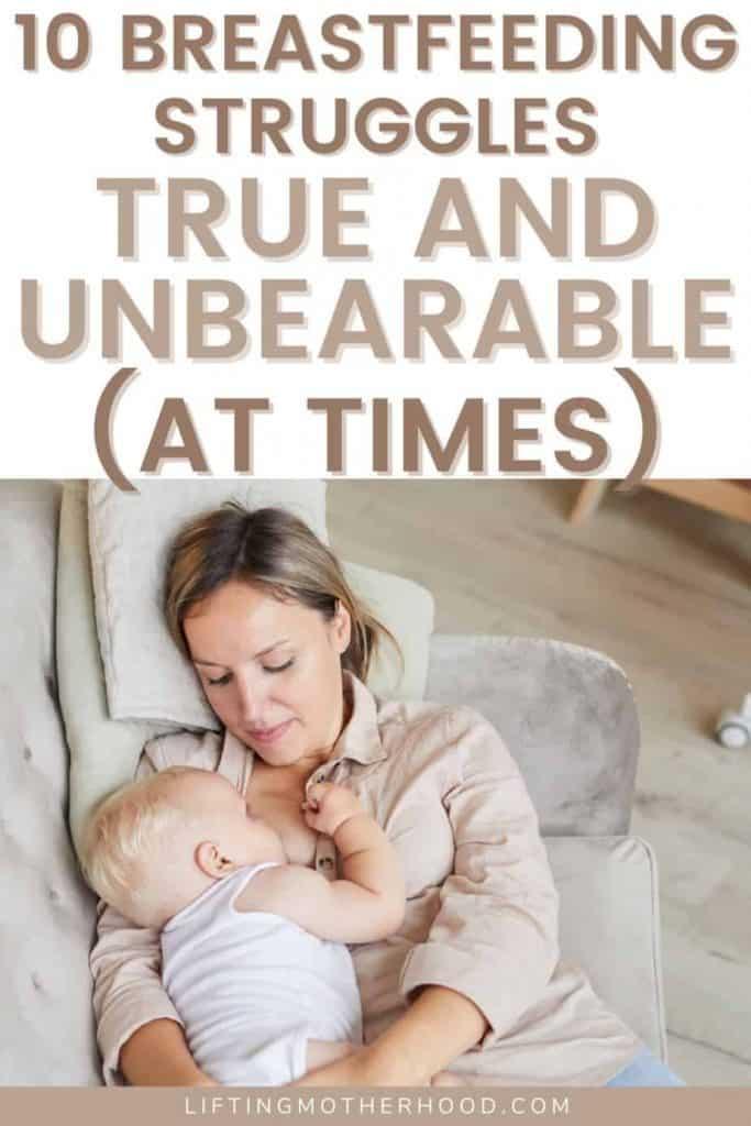 breastfeeding struggles first time mom