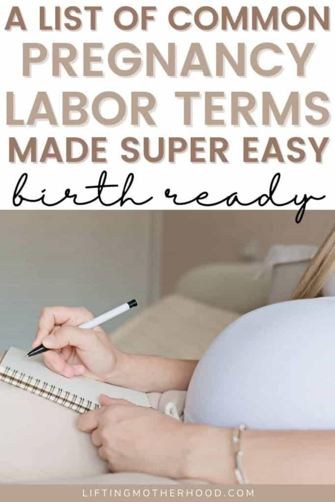 common pregnancy labor terms pinterest pin