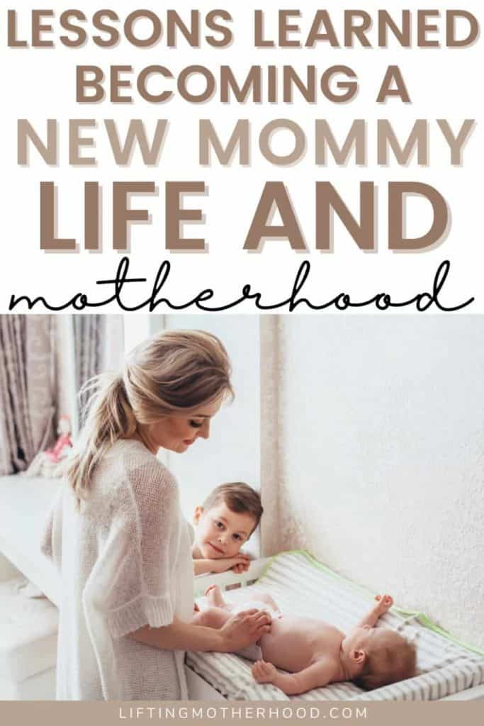 lessons becoming a new mom pin