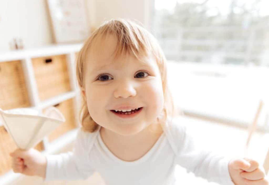 smiling toddler