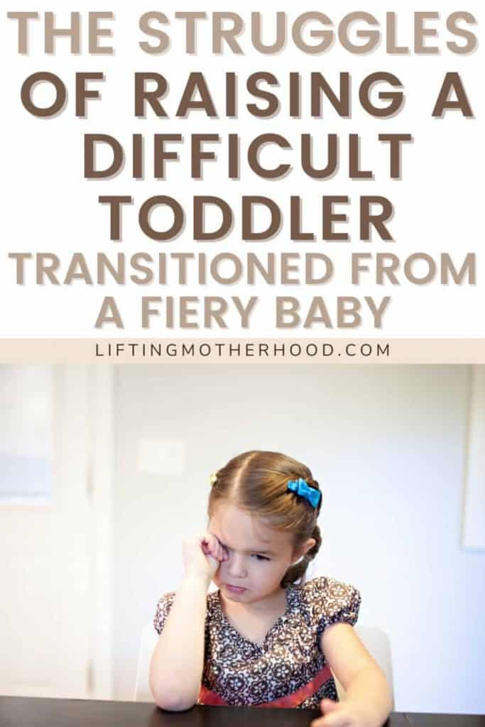 life with a difficult toddler